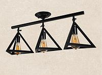 Настенно-потолочный светильник лофт 756XPR220F-3 BK