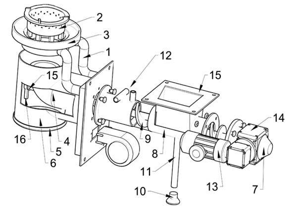 Механизм подачи топлива Pancerpol Trio 75 кВт, фото 2
