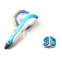3D ручка с LCD дисплеем Smart 3D pen-2 + эко пластик Голубая