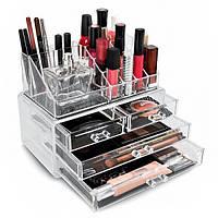 Органайзер для косметики Акриловый бокс для декоративной косметики Cosmetic Storage Box 4 ящика 24 ячейки
