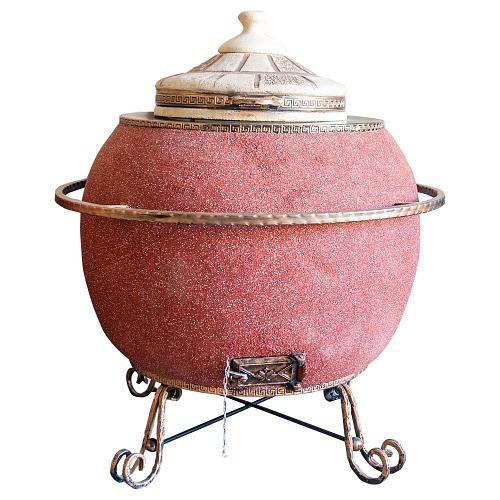 Тандыр Утепленный на 50 литров. Дизайн «Мраморная крошка»