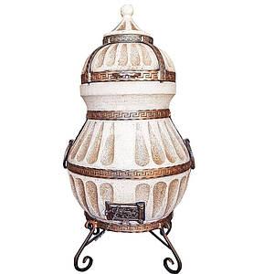Тандыр подарочный домашний переносной Люкс-4 на 80 литров.  Дизайн «Башня»