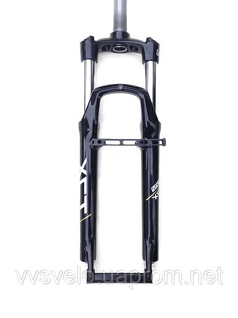 Амортизационная вилка Suntour XCT SF11-V3 -P 100 мм белая черная, фото 1