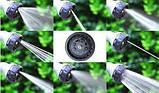 Шланг садовый поливочный X-hose 22,5 метра зеленый/синий растягивающийся шланг для полива Икз Хоз + насадка, фото 8