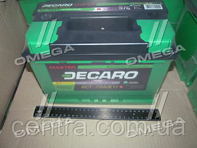 Аккумулятор 75Ah-12v DECARO MASTER (278х175х190),L,EN640 6СТ-75 (1)