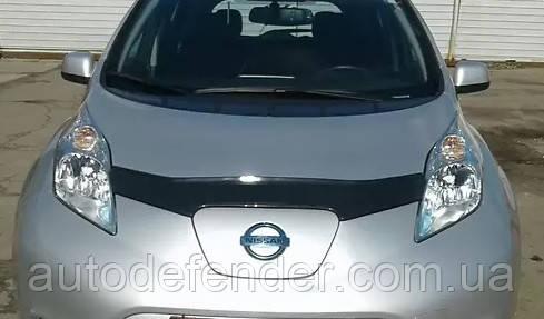 Дефлектор капота (мухобойка) Nissan Leaf I 2010-2017, Vip Tuning, NS65