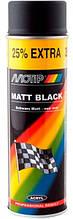 Краска (эмаль) MOTIP аэрозольная универсальная акриловая черная матовая, Нидерланды, баллончик 500 мл