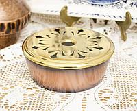 Подставка под чайник, для чайной свечи, для подогрева, покрытие под медь, латунь, Германия, фото 1