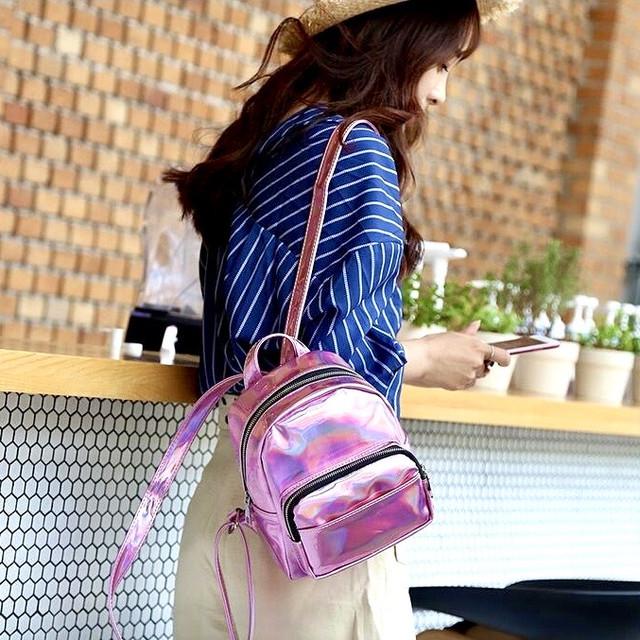Женские блестящие рюкзаки от Sion-Lux