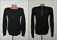 Мягкая кофта с узором №2, оригинальная спинка с замочком В ОСТАТКЕ -ЧЕРНЫЙ цвет