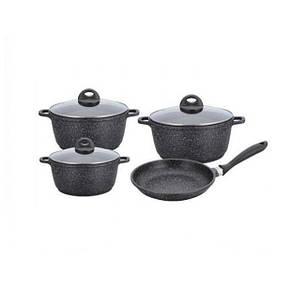 Набор посуду Benson BN-325 8 предметів з гранітним покриттям, фото 2
