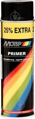Грунт MOTIP акриловый черный  стандартный, баллончик 500 мл, антикоррозионный, Нидерланды, фото 2