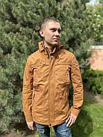 Парка куртка ветровка катон хлопок молодежная удлиненная летняя весенняя тонкая легкая