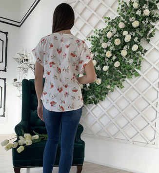 Легкая летняя блуза размеры XXL,52,54,56, фото 2