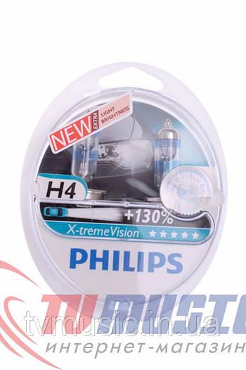 Комплект галогенных ламп Philips H4 X-tremeVision 12V 60/55W (12342XVS2)