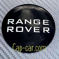 Наклейки для дисков с эмблемой Range Rover. 60мм ( Ренж Ровер ) Цена указана за комплект из 4-х штук
