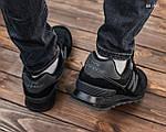 Замшевые мужские кроссовки New Balance 574 (черные) KS 1447, фото 2