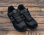 Замшевые мужские кроссовки New Balance 574 (черные) KS 1447, фото 5