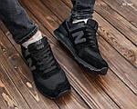 Замшевые мужские кроссовки New Balance 574 (черные) KS 1447, фото 7