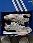 Чоловічі кросівки Adidas Nite Jogger (сірі) KS 1448, фото 2