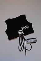 Чорний топ для дівчинки фірми Briince (Італія) 4 роки