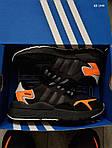 Мужские кроссовки Adidas Nite Jogger (черно-оранжевые) KS 1449, фото 3