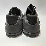 46,47 р. Летние кроссовки в стиле Nike (больших размеров) размеры Кожа / сетка черные, фото 8