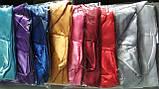 Халат жіночий короткий Атласний Бордовий розмір 42-48, фото 2