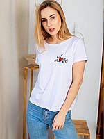 Vikamoda Белая футболка с вышивкой 2980