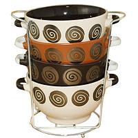 Пиалы-супницы на стойке, набор 4 шт. (700 мл.), фото 1