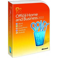 Microsoft Office 2010 Home and Business, 32/64-bit, Eng, BOX (T5D-00361) поврежденная упаковка