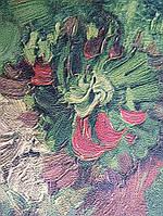Обои виниловые на флизелине BN International 220001 Van gogh 2 цветы ярко зеленые красные мазками на зеленом