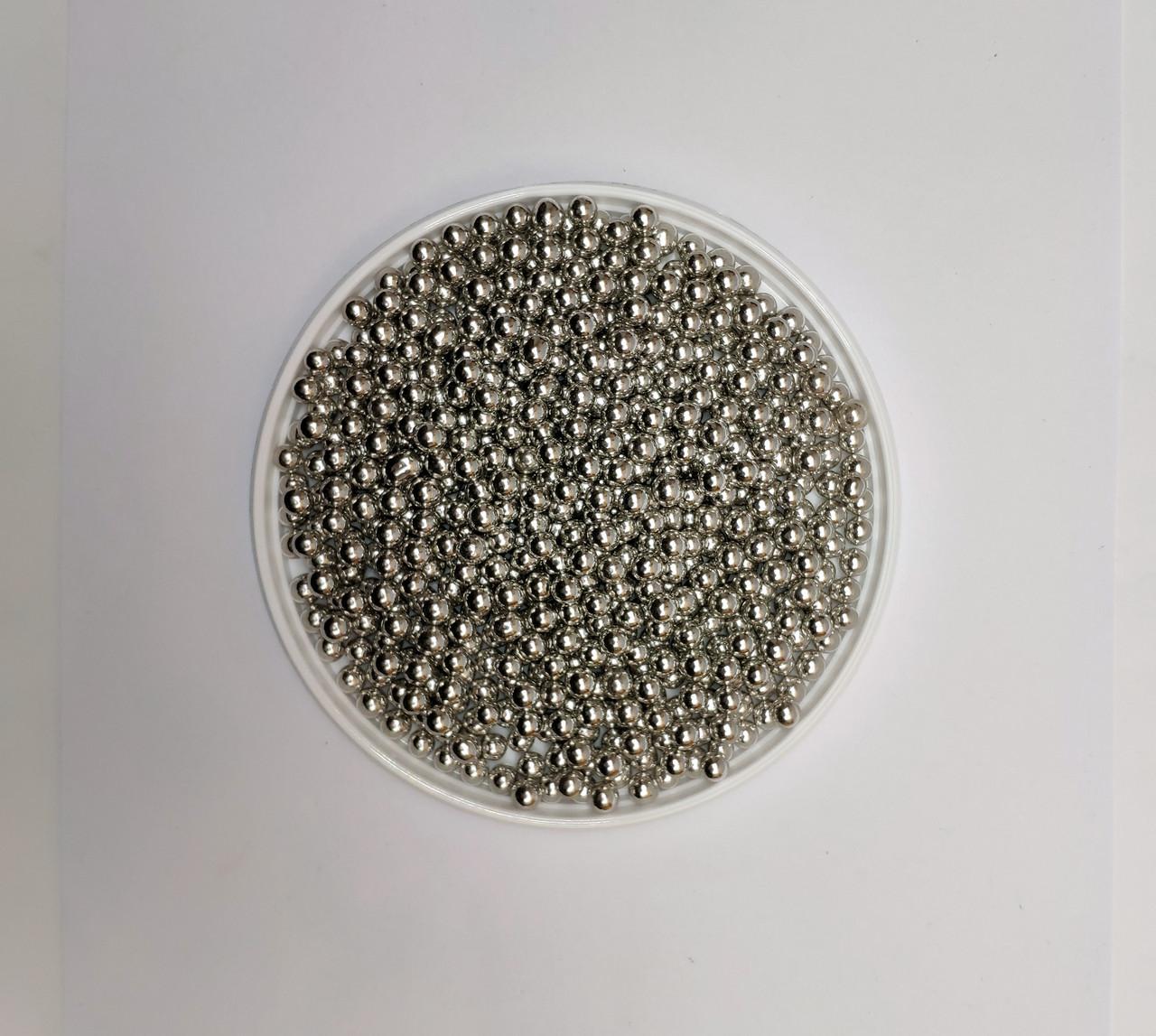 Серебряные перламутровые шарики Ф 5 мм