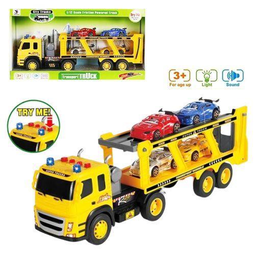 Трейлер (фура) игрушка с машинками (со свет. и звук. эфф.), 44 см, 1188-42