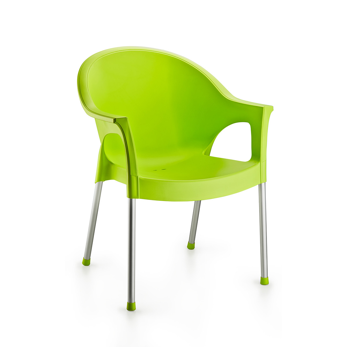 """Пластикове крісло з алюмін. профілю. ніжками """"Bergama"""" Holiday, Irak Plastik (зелений)"""