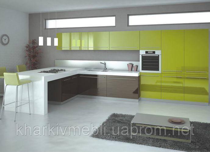 Кухни с фасадами акрилюкс