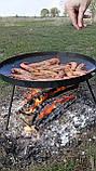 Сковорода из диска бороны для пикника жарки  мангал 30 см. Д-004, фото 6