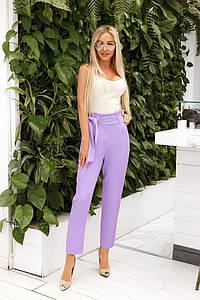 Женские укороченные брюки с завышенной талией