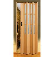"""Двері гармошка під скло """"Vinci Decor Simfonia"""" 860мм Бук"""