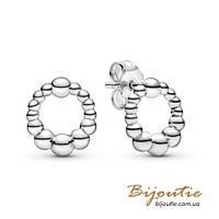 Срібні Сережки-гвоздики Пандора НАМИСТИНКИ ПАНДОРА #298683C00