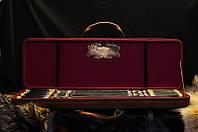 """Эксклюзивный набор подарочных шампуров ручной работы """"Primary"""" в стильном футляре из эко-кожи"""