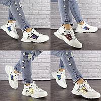 Женские летние белые кроссовки Copper 1529  эко-кожа сетка  Размер 38 - 24,5 см по стельке, обувь женская