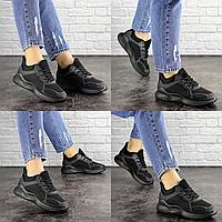 Женские летние черные кроссовки Coaco 1661 Сетка  Размер 39 - 24 см по стельке, обувь женская