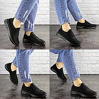Женские летние черные кроссовки Skye 1687 Текстиль  Размер 40 - 25 см по стельке, обувь женская