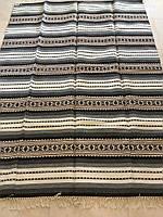 Килим тканий покривало на диван ручної роботи шерстяна 240*130 см