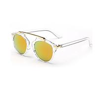 Очки солнцезащитные Bananahall Cat Eye Декори с зеркальными линзами (bnnhll4210)