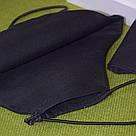 Маска с кармашком для фильтра трехслойная черная защитная многоразовая мужская, фото 5