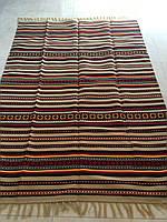 Килим тканий покривало ручної роботи акрил-льон 200*140 см