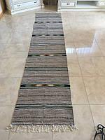 Доріжка гуцульська ручної роботи шерстяна ткана 300*67 см, фото 1