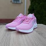 Кросівки жіночі в стилі Nike Flyknit Lunar 3 рожеві, фото 7